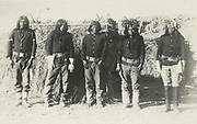 Native American Indian Apache scouts  employed by the US government, c1890.