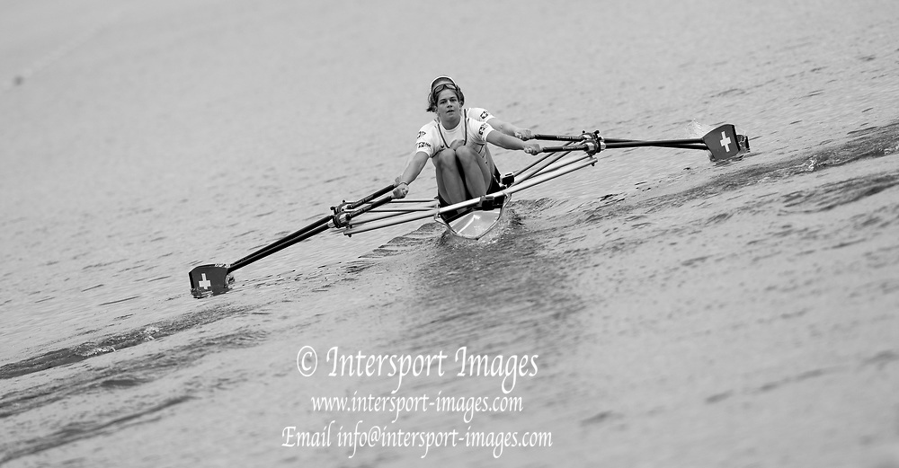"""Glasgow, Scotland, """"2nd August 2018"""", Swiss Double,  SUI W2X, Pascale WALKER and Valerie ROSSET, competing in the Women's Double Sculls, at the European Games, Rowing, Strathclyde Park, North Lanarkshire, © Peter SPURRIER/Alamy Live News"""