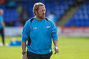 Jamie Day Manager of Braintree Town during the Vanarama National League match between Braintree Town and Forest Green Rovers at the Amlin Stadium, Braintree, United Kingdom on 24 September 2016. Photo by Shane Healey.
