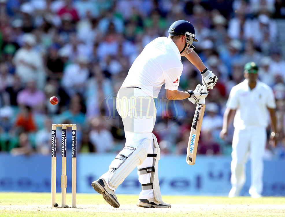 © Andrew Fosker / Seconds Left Images 2012 -  England's Jonathan Trott edges a Dale Steyn ball to AB de Villiers out for 10 in the 2nd innings  England v South Africa - 1st Investec Test Match -  Day  4 - The Oval  - London - 22/07/2012