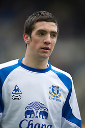 NEWCASTLE, ENGLAND - Saturday, March 5, 2011: Everton's Shane Duffy before the Premiership match against Newcastle United at St. James' Park. (Photo by David Rawcliffe/Propaganda)