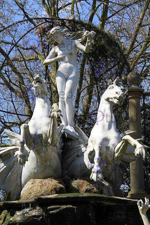 London, UK, 22 April 2010: York House Gardens and Statues in Twickenham. For piQtured Sales contact: +44 (0) 7916262580 (Picture by Richard Goldschmidt/Piqtured)