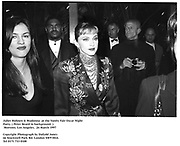 Juliet Hohnen & Madonna  at the Vanity Fair Oscar Night Party. ( Peter Beard in background. )  Mortons. Los Angeles.  24 March 1997<br />