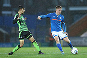 Callum Camps during the EFL Sky Bet League 1 match between Rochdale and Plymouth Argyle at Spotland, Rochdale, England on 24 April 2018. Picture by Daniel Youngs.