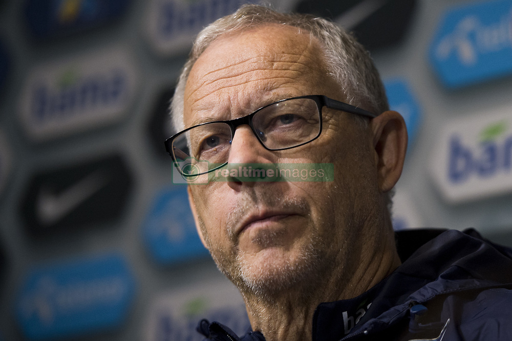 September 1, 2017 - Oslo, NORWAY - 170901 Lars LagerbÅck, head coach of Norway during a press conference after the FIFA World Cup Qualifier match between Norway and Azerbaijan on September 1, 2017 in Oslo..Photo: Fredrik Varfjell / BILDBYRN / kod FV / 150000 (Credit Image: © Fredrik Varfjell/Bildbyran via ZUMA Wire)