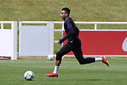 England midfielder Jesse Lingard on the ball during the training session for England at St George's Park National Football Centre, Burton-Upon-Trent, United Kingdom on 28 May 2019.