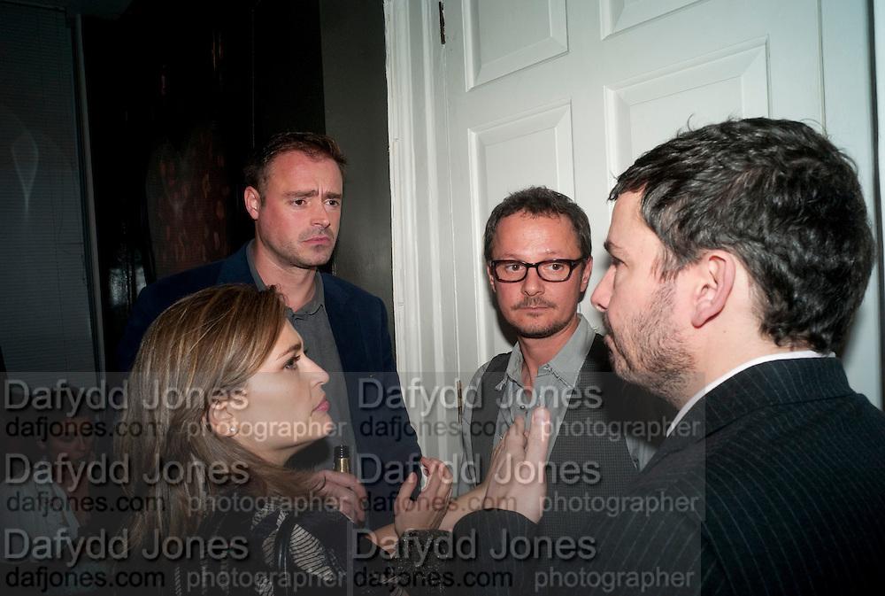 SHEBA RONAY;  JAMIES THEAKSTON; JONATHAN YEO; GILES COREN; , ' You're Only Young Twice' Jonathan Yeo exhibition. Lazarides. 11 Rathbone Place. London. 9 December 2011.