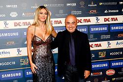 December 3, 2018 - Milan, Italy - Diletta Leotta and Paolo Cevoli at 'Oscar Del Calcio AIC' Italian Football Awards photocall in Milano, Italy, on December 03 2018  (Credit Image: © Mairo Cinquetti/NurPhoto via ZUMA Press)
