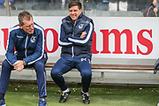 Bristol Rovers Manager Darrell Clarke (Right) during the EFL Sky Bet League 1 match between Bristol Rovers and Millwall at the Memorial Stadium, Bristol, England on 30 April 2017. Photo by Shane Healey.