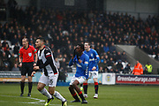 Oviemuno Ejaria of Rangers with the 1st real chance of the game during the Ladbrokes Scottish Premiership match between St Mirren and Rangers at the Simple Digital Arena, Paisley, Scotland on 3 November 2018.
