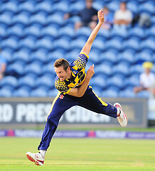 Michael Hogan of Glamorgan in action.  - Mandatory by-line: Alex Davidson/JMP - 22/07/2016 - CRICKET - Th SSE Swalec Stadium - Cardiff, United Kingdom - Glamorgan v Somerset - NatWest T20 Blast