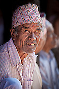 Portrait of Newari man, Nepal.