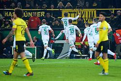 05.02.2019, Signal Iduna Park, Dortmund, GER, DFB Pokal, Borussia Dortmund vs SV Werder Bremen, Achtelfinale, im Bild Martin Harnik (SV Werder Bremen #9) trifft per Kopf zum 3:3, hier beim Jubellauf // during the German Pokal round of 16 match between Borussia Dortmund and SV Werder Bremen at the Signal Iduna Park in Dortmund, Germany on 2019/02/05. EXPA Pictures © 2019, PhotoCredit: EXPA/ Andreas Gumz<br /> <br /> *****ATTENTION - OUT of GER*****
