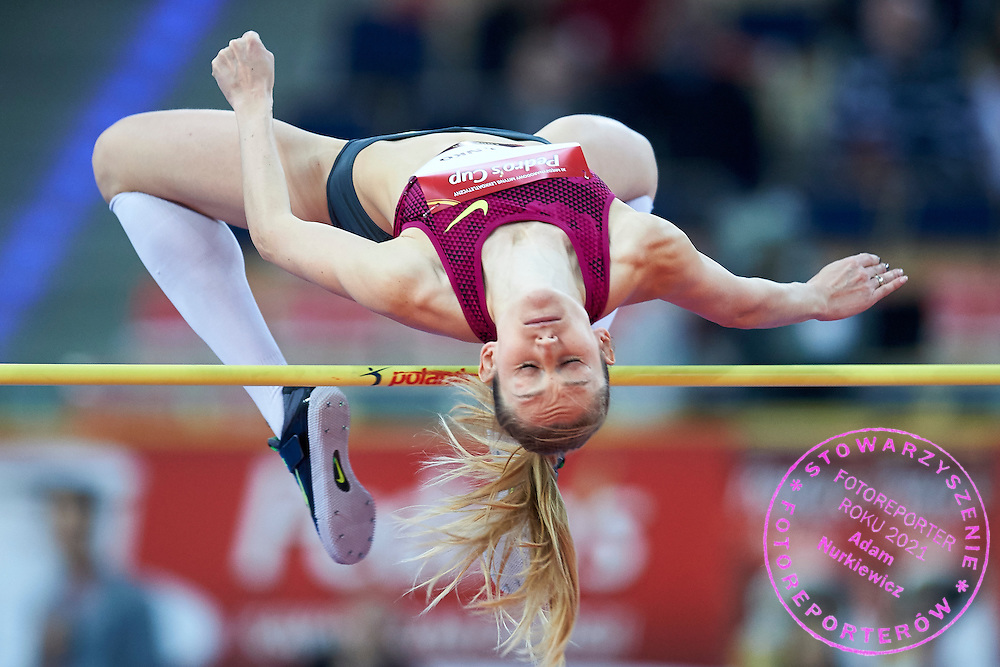 Kamila Licwinko from Poland competes in women's high jump competition during athletics meeting Pedro's Cup at Atlas Arena in Lodz, Poland.<br /> <br /> Poland, Lodz, February 17, 2015<br /> <br /> Picture also available in RAW (NEF) or TIFF format on special request.<br /> <br /> For editorial use only. Any commercial or promotional use requires permission.<br /> <br /> Adam Nurkiewicz declares that he has no rights to the image of people at the photographs of his authorship.<br /> <br /> Mandatory credit:<br /> Photo by &copy; Adam Nurkiewicz / Mediasport