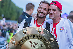 26.05.2019, Schloss Klessheim, Salzburg, AUT, 1. FBL, FC Red Bull Salzburg Meisterfeier, im Bild Andreas Ulmer (FC Red Bull Salzburg), Sportdirektor Christoph Freund (FC Red Bull Salzburg) // during the Austrian Football Bundesliga Championsship Celebration at the Schloss Klessheim in Salzburg, Austria on 2019/05/26. EXPA Pictures © 2019, PhotoCredit: EXPA/ JFK