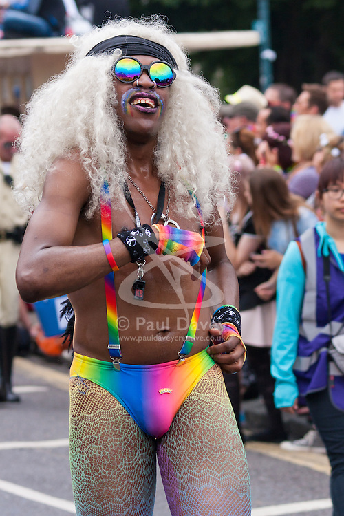 Brighton, August 2nd 2014. Brighton Pride gives revellers a chance to let it all hang out.