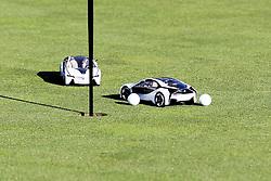 23.06.2015, Golfclub München Eichenried, Muenchen, GER, BMW International Golf Open, Show Event, im Bild Die Spieler muessen versuchen mit einem Modellauto den Golfball einzulochen // during the Show Event of BMW International Golf Open at the Golfclub München Eichenried in Muenchen, Germany on 2015/06/23. EXPA Pictures © 2015, PhotoCredit: EXPA/ Eibner-Pressefoto/ Kolbert<br /> <br /> *****ATTENTION - OUT of GER*****
