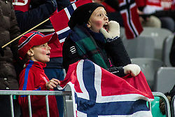 Fans of Norway during football match between National Teams of Slovenia and Norwey in UEFA Nations League 2019, on November 16, 2018 in SRC Stozice, Ljubljana, Slovenia. Photo by Grega Valancic / Sportida