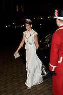 01.01.2016. Copenhagen, Denmark. <br /> Princess Marie's arrival to Amalienborg Palace for the traditional gala dinner with the Danish government officials, civil servants, and members/employees of the royal court.<br /> Photo: &copy; Ricardo Ramirez