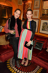 Left to right, TESS WARD and MARISSA HERMER at the launch of GP Nutrition held at Annabel's, 44 Berkeley Square, London on 26th January 2016.
