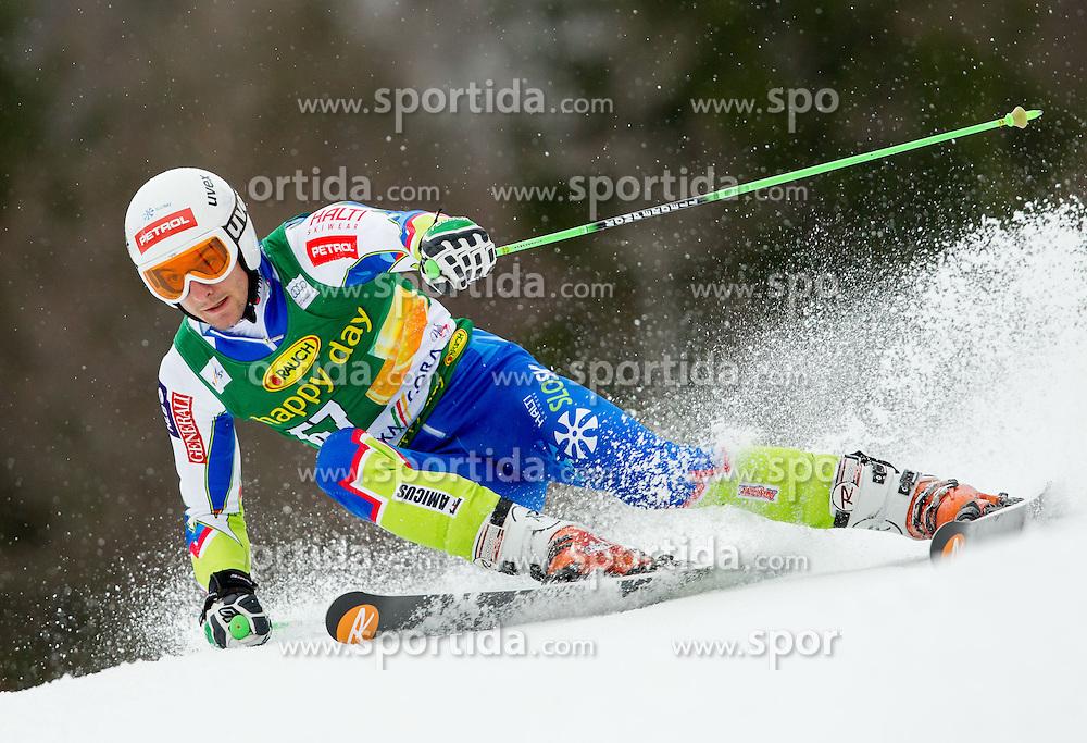 ZERAK Misel of Slovenia competes during the 1st Run of 7th Men's Giant Slalom - Pokal Vitranc 2013 of FIS Alpine Ski World Cup 2012/2013, on March 9, 2013 in Vitranc, Kranjska Gora, Slovenia. (Photo By Vid Ponikvar / Sportida.com)