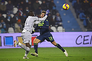 Foto LaPresse/Filippo Rubin<br /> 26/12/2018 Ferrara (Italia)<br /> Sport Calcio<br /> Spal - Udinese - Campionato di calcio Serie A 2018/2019 - Stadio &quot;Paolo Mazza&quot;<br /> Nella foto: JENS STRYGER LARSEN (UDINESE) VS ALFRED GOMIS (SPAL)<br /> <br /> Photo LaPresse/Filippo Rubin<br /> December 26, 2018 Ferrara (Italy)<br /> Sport Soccer<br /> Spal vs Udinese - Italian Football Championship League A 2018/2019 - &quot;Paolo Mazza&quot; Stadium <br /> In the pic: ENS STRYGER LARSEN (UDINESE) VS ALFRED GOMIS (SPAL)