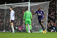 Enner Valencia of West Ham United celebrates scoring the opening goal against Everton during the FA Cup match at the Boleyn Ground, London<br /> Picture by David Horn/Focus Images Ltd +44 7545 970036<br /> 13/01/2015