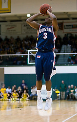 January 30, 2010; San Francisco, CA, USA; Gonzaga Bulldogs guard Demetri Goodson (3) during the second half against the San Francisco Dons at the War Memorial Gym.  San Francisco defeated Gonzaga 81-77 in overtime.