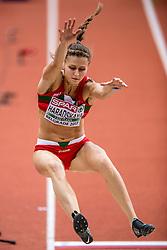 03-03-2017  SRB: European Athletics Championships indoor day 1, Belgrade<br /> In een lege Kombank Arena wordt de eerste dag van het Europees Kampioenschap gehouden / Hanna Haradskaya