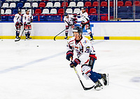 2020-01-22   Kallinge, Sweden: Halmstad Hammers (28) Alexander Andersson during the warming up before the game between Krif hockey and Halmstad Hammers at Soft Center Arena (Photo by: Jonathan Persson   Swe Press Photo)<br /> <br /> Keywords: kallinge, Ishockey, Icehockey, hockeyettan, allettan södra, soft center arena, krif hockey, halmstad hammers (Match code: krhh200122)