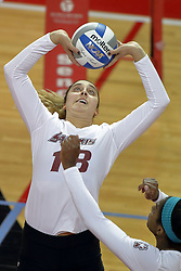 23 September 2017:  Alayna Martin during a college women's volleyball match between the Salukis of Southern Illinois and the Illinois State Redbirds at Redbird Arena in Normal IL (Photo by Alan Look)