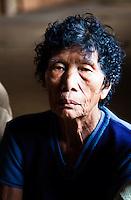 Old woman at Nanga Sumpa Longhouse, Sarawak.