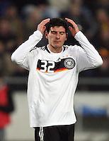 Fussball           EM Qualifikation        17.11.07 Deutschland - Zypern Mario GOMEZ (GER), enttaeuscht nach einer vergebenen Torchance.