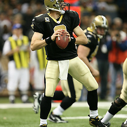 2007 December, 16: New Orleans Saints quarterback Drew Brees (9) in action during a 31-24 win by the New Orleans Saints over the Arizona Cardinals at the Louisiana Superdome in New Orleans, LA.