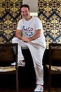 Belo Horizonte_MG, Brasil.<br /> <br /> Estilista Victor Dzenk, que participa da semana de lancamentos Minas Trend no ano de 2012.<br /> <br /> Stylist Victor Dzenk, participating the Minas Trend Preview week in 2012.<br /> <br /> Foto: DANIEL DE CERQUEIRA / NITRO