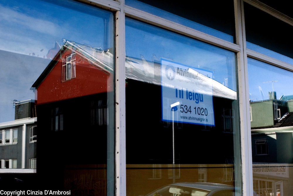 following the economic breakdown of Iceland, many shops have closed down or moved in smaller and less central areas.  Many premises in Reyjavik are for rent.