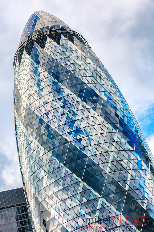 """The Gherkin"" skyscraper. London. Great Britain, Europe."