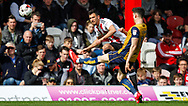 Maxime Colin of Brentford and Callum O'Dowda of Bristol City during the Sky Bet Championship match between Brentford and Bristol City at Griffin Park, London<br /> Picture by Mark D Fuller/Focus Images Ltd +44 7774 216216<br /> 01/04/2017