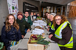 Pictured: Managers from food banks and a large number of organiastions  were behind the protest.<br />