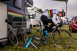 DE JONG Thalita (NED) preparing for the Women's race, UCI Cyclo-cross World Cup at Valkenbrug, The Netherlands, 23 October 2016. Photo by Pim Nijland / PelotonPhotos.com | All photos usage must carry mandatory copyright credit (Peloton Photos | Pim Nijland)