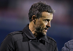 Spain coach Luis Enrique during the UEFA Nations League football match between Croatia and Spain, on November 15, 2018, at the Maksimir Stadium in Zagreb, Croatia. Photo by Morgan Kristan / Sportida