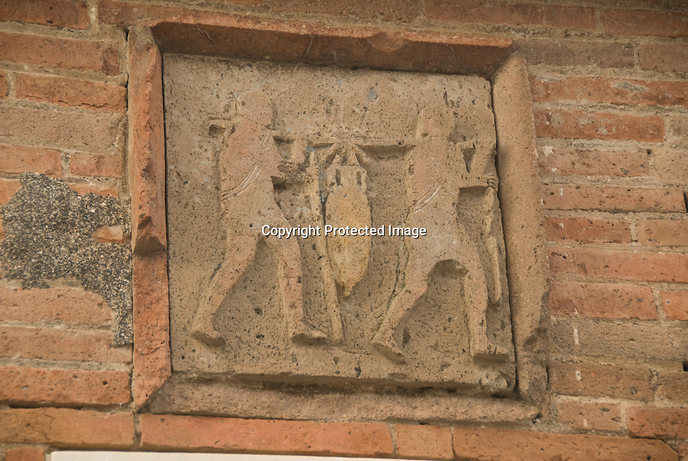 Reliefs on the Market, Pompeji, Italy