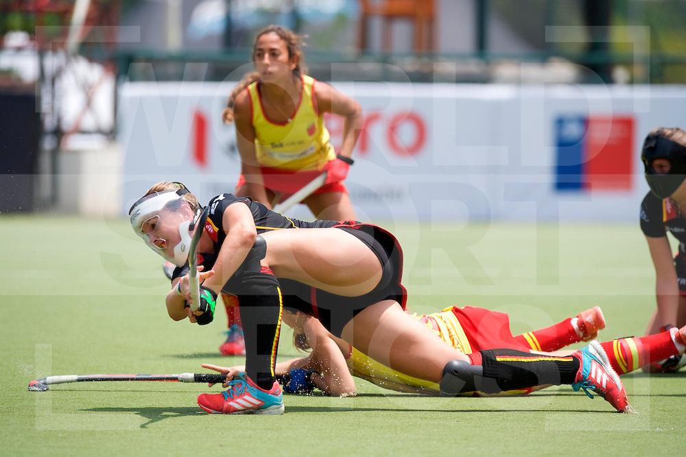 SANTIAGO - 2016 8th Women's Hockey Junior World Cup<br /> BEL v ESP (Pool D)<br /> foto: <br /> FFU PRESS AGENCY COPYRIGHT FRANK