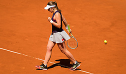 May 6, 2019 - Madrid, MADRID, SPAIN - Jelena Ostapenko of Latvia in action during her second-round match at the 2019 Mutua Madrid Open WTA Premier Mandatory tennis tournament (Credit Image: © AFP7 via ZUMA Wire)