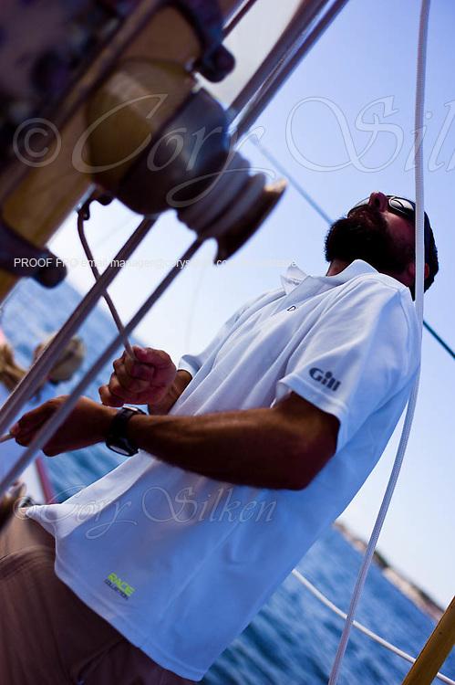 Race practice sail onboard Dorade.