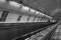Prague underground metro