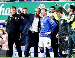 Everton Manager, Roberto Martinez gives instructions to Wayne Rooney - Mandatory by-line: Matt McNulty/JMP - 02/08/2015 - SPORT - FOOTBALL - Liverpool,England - Goodison Park - Everton v Villareal - Pre-Season Friendly