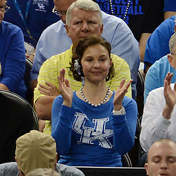 Mar 31, 2012; New Orleans, LA, USA; Film actress Ashley Judd watches the game during the second half in the semifinals of the 2012 NCAA men's basketball Final Four between the Kentucky Wildcats and Louisville Cardinals at the Mercedes-Benz Superdome. Mandatory Credit: Derick E. Hingle-US PRESSWIRE