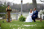 Annapolis, Maryland - April 18, 2015: Accomplished author and mother of the groom Bette Bao Lord reads the homily during Stephanie Shearer Cate and Winston Bao Lord wedding. The affair took place at the newlyweds' friends Jeff and Marry Zients' house in Annapolis, Maryland Saturday April 18, 2015. <br /> <br /> <br /> <br /> CREDIT: Matt Roth for The New York Times<br /> Assignment ID: 30173318A