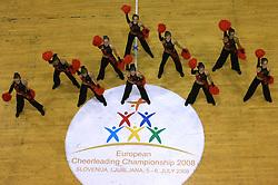 Maxi Energa Slupsk, Poland at European Cheerleading Championship 2008, on July 5, 2008, in Arena Tivoli, Ljubljana, Slovenia. (Photo by Vid Ponikvar / Sportal Images).